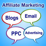 Affiliate Marketing Means Join Forces And Associate Royalty Free Stock Images