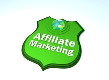 Affiliate marketing plate. With earth and green royalty free illustration