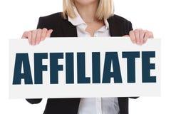 Affiliate marketing program network making money online internet Royalty Free Stock Photos