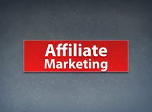 Affiliate Marketing Red Banner Abstract Background stock illustration