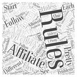 Affiliate Marketing Rules word cloud concept  background Stock Photos