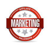 Affiliate marketing seal illustration design Royalty Free Stock Photography