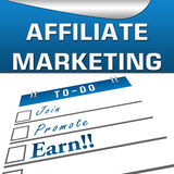 Affiliate Marketing Square. Affiliate Marketing headiing with Join, promote and earn stock illustration