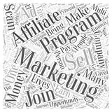 Affiliate Marketing Staying Away From Scams word cloud concept  background Royalty Free Stock Photo