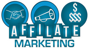 Affiliate Marketing Three Circles Stripes Royalty Free Stock Image