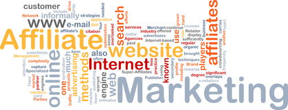 Affiliate marketing word cloud stock illustration