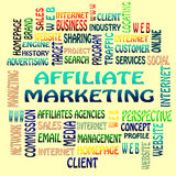The Affiliate marketing word cloud. Business and internet concept  as background Royalty Free Stock Image