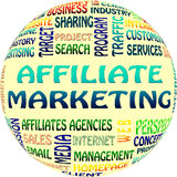 The Affiliate marketing word cloud. Business and internet concept  as background Stock Image