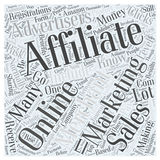 Affiliate Marketing 297 word cloud concept  background Royalty Free Stock Photography