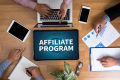 AFFILIATE PROGRAM Stock Images