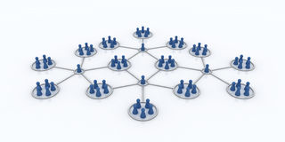 Affiliate program. Network. Blue Icons. Royalty Free Stock Image