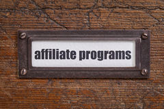 Affiliate programs label Royalty Free Stock Photos