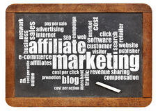 Affilliate marketing word cloud Stock Photo