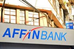 Affin Bank Facade in Kota Kinabalu, Malaysia. KOTA KINABALU, MY - JUNE 21: Affin Bank facade on June 21, 2016 in Kota Kinabalu. Affin Bank Malaysia is a banking Stock Photo