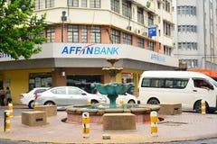 Affin Bank Facade in Kota Kinabalu, Malaysia. KOTA KINABALU, MY - JUNE 21: Affin Bank facade on June 21, 2016 in Kota Kinabalu. Affin Bank Malaysia is a banking Royalty Free Stock Photo