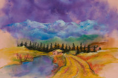 Paysages, produit d'art Image libre de droits