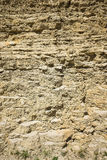 Affioramento dei calcari e dei fanghi induriti con lettiera alternante Fotografia Stock Libera da Diritti