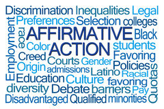 Affirmative Action Word Cloud. On White Background Royalty Free Stock Photos