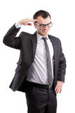 Affirmative businessman Stock Photo