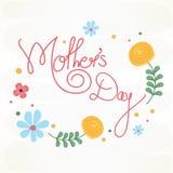 Affisch, baner eller reklamblad för lycklig mors dag Royaltyfri Fotografi