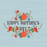 Affisch, baner eller reklamblad för lycklig mors dag Arkivfoto