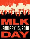 Affisch eller baner för Martin Luther King Day Protesten samlar stock illustrationer