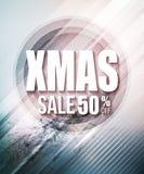 Affisch eller reklamblad för julförsäljningsparti vektor Fotografering för Bildbyråer
