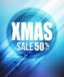 Affisch eller reklamblad för julförsäljningsparti vektor Royaltyfria Bilder
