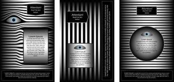 AFFISCH 17 en uppsättning av broschyrer som tilldrar uppmärksamhet stock illustrationer