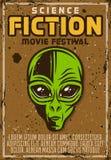 Affisch för advertizing för sciencefilmfest Stock Illustrationer