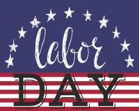 Affisch för arbets- dag Arkivbild