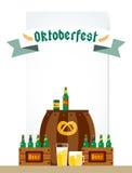 Affisch för bakgrund för Oktoberfest berömvektor Royaltyfri Fotografi