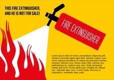 Affisch för brandsäkerhet avlägsna brandsläckaren stock illustrationer