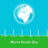 Affisch för dag för världshälsa Arkivbild