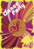 Affisch för dansparti Arkivbild
