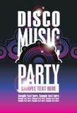 Affisch för diskomusikparti royaltyfri illustrationer