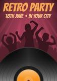 Affisch för diskoparti Royaltyfri Fotografi