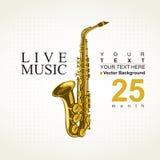 Affisch för en konsert vektor illustrationer