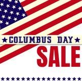 Affisch för försäljning för Columbus dag Arkivbilder