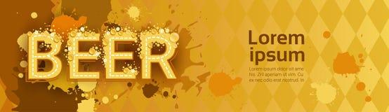 Affisch för ferie för baner för Oktoberfest traditionell ölfestival royaltyfri illustrationer