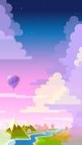 Affisch för flyg för luftballong Arkivfoto