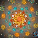 affisch för fractal för bakgrundskortdesign god Arkivbild