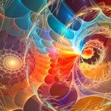 affisch för fractal för bakgrundskortdesign god Royaltyfria Foton