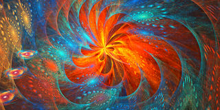 affisch för fractal för bakgrundskortdesign god Arkivbilder