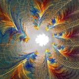 affisch för fractal för bakgrundskortdesign god Royaltyfri Foto