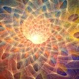 affisch för fractal för bakgrundskortdesign god Fotografering för Bildbyråer