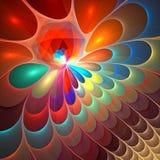 affisch för fractal för bakgrundskortdesign god Arkivfoton