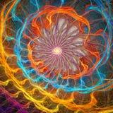affisch för fractal för bakgrundskortdesign god Arkivfoto