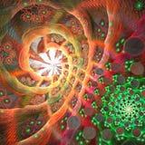 affisch för fractal för bakgrundskortdesign god dark förtjänar Royaltyfri Bild