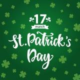 Affisch för hälsning för dag för St Patrick ` s Royaltyfri Foto